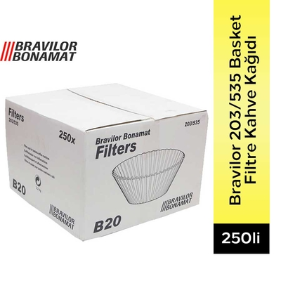 203/535 Basket Filtre Kahve Kağıdı 250 Adet