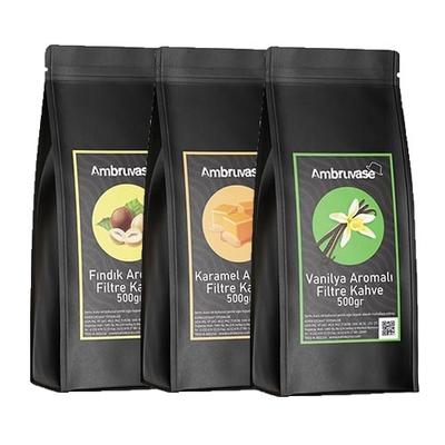 Ambruvase Aromalı Filtre Kahve Seti