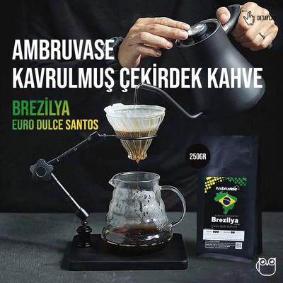 Ambruvase Brezilya Euro Dulce Santos 250 Gr Çekirdek Kahve & Kahve Değirmeni Hediyeli !