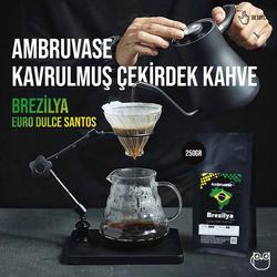 Cafe Ambruvase - Ambruvase Brezilya Euro Dulce Santos 250 Gr Çekirdek Kahve & Kahve Değirmeni Hediyeli ! (1)