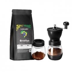 Cafe Ambruvase - Ambruvase Brezilya Euro Dulce Santos 250 Gr Çekirdek Kahve & Kahve Değirmeni Hediyeli !