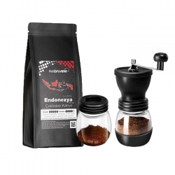 Cafe Ambruvase - Ambruvase Endonezya Sumatra Gr1 250 Gr Çekirdek Kahve & Kahve Değirmeni Hediyeli !