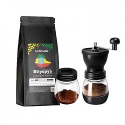 Cafe Ambruvase - Ambruvase Etiyopya Yirgacheffe 250 Gr Çekirdek Kahve & Kahve Değirmeni Hediyeli !