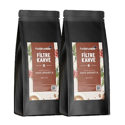 Ambruvase Taze Çekilmiş Filtre Kahve 1 Kg - 2 Adet 500 Gr