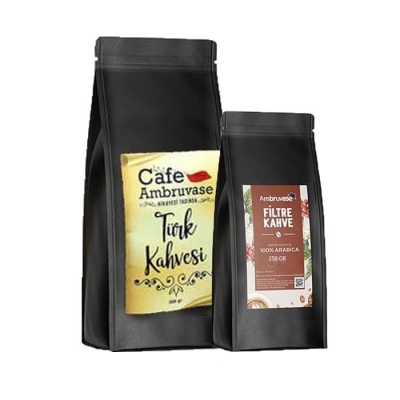 Ambruvase Filtre Kahve 250 Gr ve Türk Kahvesi 500 Gr Seti
