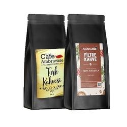 Cafe Ambruvase - Ambruvase Filtre Kahve 500 Gr ve Türk Kahvesi 500 Gr Seti