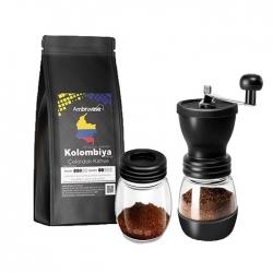 Cafe Ambruvase - Ambruvase Kolombiya Excelso 250 Gr Çekirdek Kahve & Kahve Değirmeni Hediyeli !