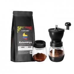 Cafe Ambruvase - Ambruvase Kolombiya Supremo 250 Gr Çekirdek Kahve & Kahve Değirmeni Hediyeli !
