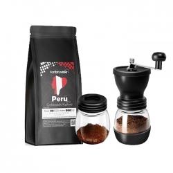 Cafe Ambruvase - Ambruvase Peru 250 Gr Çekirdek Kahve & Kahve Değirmeni Hediyeli !