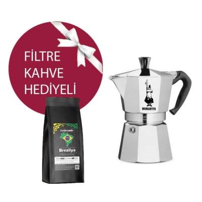 Bialetti Moka Pot 2 Cup & Ambruvase Brezilya Euro Dulce Santos Filtre Kahve Hediyeli !