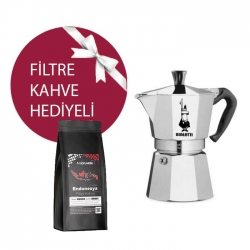 Bialetti - Bialetti Moka Pot 2 Cup & Ambruvase Endonezya Sumatra Filtre Kahve Hediyeli !