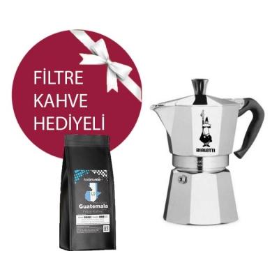 Bialetti Moka Pot 2 Cup & Ambruvase Guatemala Fedecocagua Filtre Kahve Hediyeli !