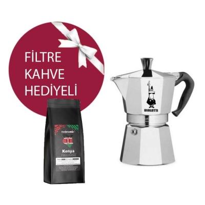 Bialetti Moka Pot 2 Cup & Ambruvase Kenya Nyeri AA Filtre Kahve Hediyeli !