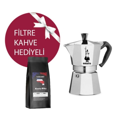 Bialetti Moka Pot 2 Cup & Ambruvase Kostarika Tarrazu Filtre Kahve Hediyeli !