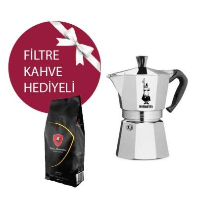 Bialetti MokaPot Express 2 Cup & Lamborghini Filtre Kahve Hediyeli !