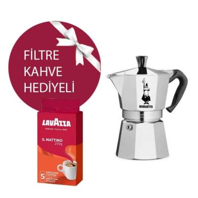 Bialetti MokaPot Express 2 Cup & Lavazza Mattino Filtre Kahve Hediyeli!