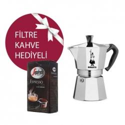 Bialetti MokaPot Express 2 Cup & Segafredo Casa Filtre Kahve Hediyeli! - Thumbnail