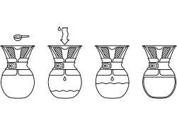 Bodum 8 Cup Kahve Demleme Ekipmani Ve Metal Filtre - Thumbnail