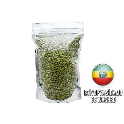 Ambruvase Etiyopya Sidamo GR2 Çiğ Kahve Çekirdeği 1 Kg