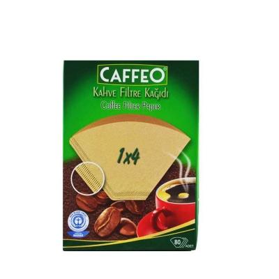 Caffeo 4 Numara Filtre Kahve Kağıdı 80 Adet Kahverengi