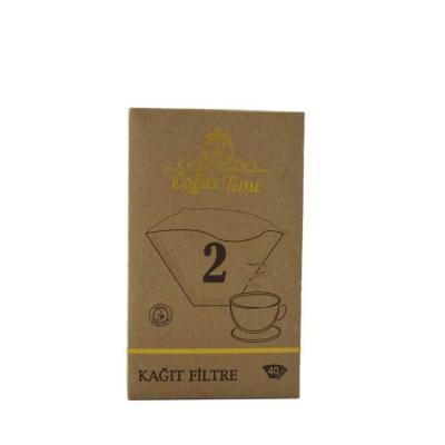 Coffee Time 1*2 40 Li Kahve Filtre Kagidi