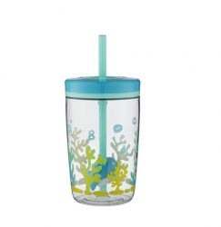 Contigo - Contigo Floating Straw Tumblr Köpek Balığı Çocuk Su Matarası-Su Şisesi