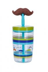 Contigo - Contigo Funny Straw Bıyık Çocuk Su Matarası-Su Şisesi-470 Ml