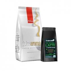 Prince - Dolce Aroma Çekirdek Kahve 1 Kg Ve Chai Latte 250 Gr