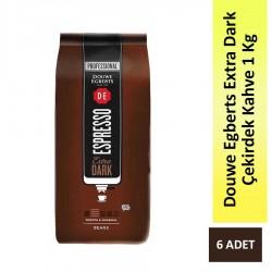 - Douwe Egberts Extra Dark Espresso Çekirdek Kahve 1 Kg - 6 Adet