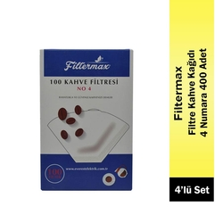 Filtermax - Filtermax Filtre Kahve Kağıdı 400 Adet 4 Numara
