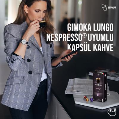Gimoka Lungo Nespresso® Uyumlu Kapsül Kahve 10 Lu