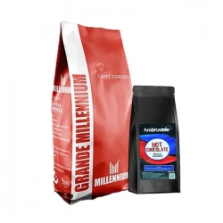 Grande Millennium - Grande Millennium Çekirdek Kahve 1 Kg Ve Beyaz Çikolata 250 Gr