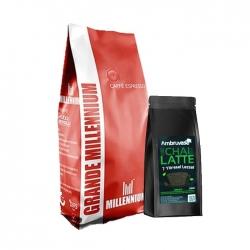 Grande Millennium - Grande Millennium Çekirdek Kahve 1 Kg Ve Chai Latte 250 Gr