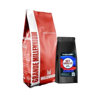 Grande Millennium Çekirdek Kahve 1 Kg Ve Sıcak Çikolata 250 Gr