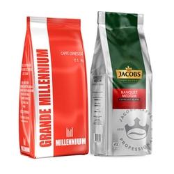 Jacobs - Grande Millennium Çekirdek Kahve ve Jacobs Cafe Creme Çekirdek Kahve 1 Kg