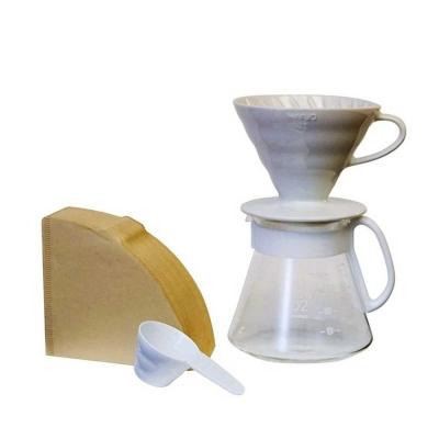 Hario V60 02 Seramik Kahve Demleme Ekipmanı Beyaz