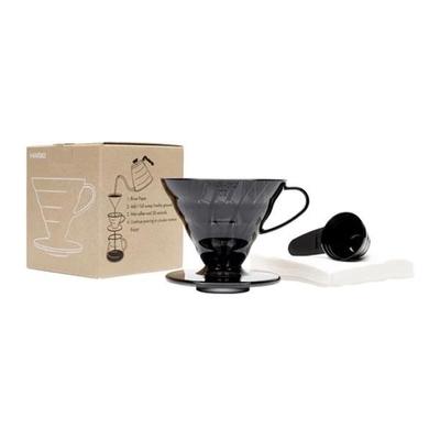 Hario V60 Siyah Şeffaf Plastik Dripper ve 40'lı Filtre Kağıdı Seti