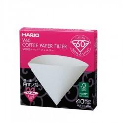 Hario - Hario V60 Filtre Kahve Kağıdı 40'Lı