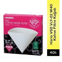Hario - Hario V60 VCF-02 W40 Coffee Filtre Kahve Kağıdı 40 Adet