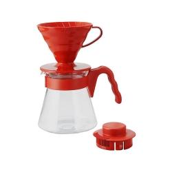 Hario - Hario V60 02 Kahve Demleme Seti Kırmızı