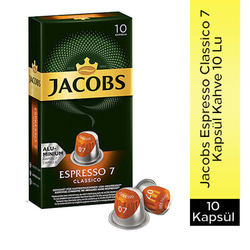 Jacobs - Jacobs Espresso Classico 7 Kapsül Kahve 10 Lu