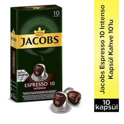 Jacobs - Jacobs Espresso Intense 10 Kapsül Kahve 10 Lu