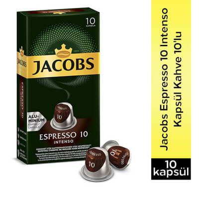 Jacobs Espresso Intense 10 Kapsül Kahve 10 Lu