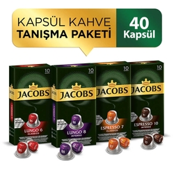 Jacobs - Jacobs Kapsül Kahve Tanışma Paketi 40 Kapsül