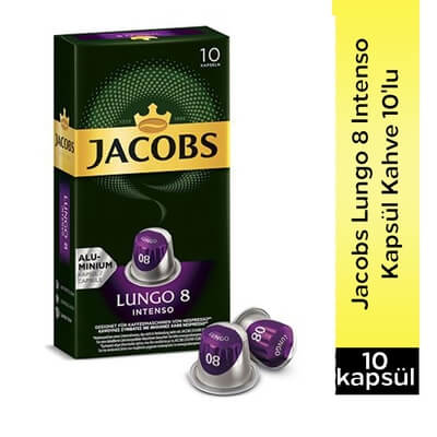 Jacobs Lungo 8 İntenso Kapsül Kahve 10 Lu