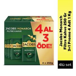 Jacobs - Jacobs Monarch Filtre Kahve 250 Gr 3+1 Promo 4 Adt 1 Kg