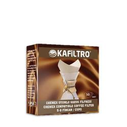 Kafiltro - Kafiltro Chemex Uyumlu Filtre Kağıdı -8 Cup 50 'Li