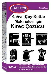 Kafiltro - Kafiltro Kireç Sökücü Kahve-Çay-Kettle Makineleri İçin 5*25 Gr