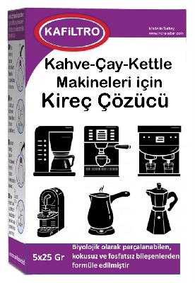 Kafiltro Kireç Sökücü Kahve-Çay-Kettle Makineleri İçin 5*25 Gr