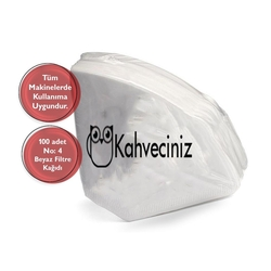 Kahveciniz - Kahveciniz 4 Numara Filtre Kahve Kağıdı 100 Adet